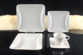 tafelservice weiss 6 personen porzellan essservice geschirr 30 teile. Black Bedroom Furniture Sets. Home Design Ideas